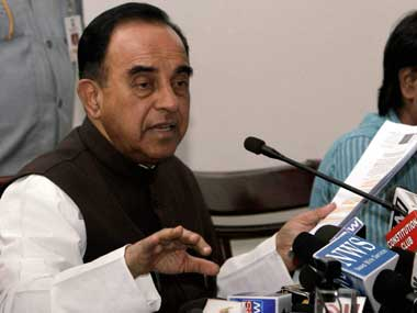 BJP MP Subramanian Swamy. PTI