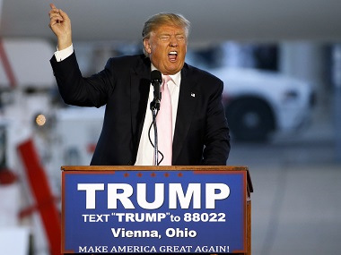 Republican presumptive presidential nominee, Donald Trump. AP