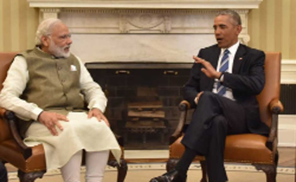 I thank US Congress for inviting me to address them, says Prime Minister Narendra Modi after meeting US President Barack Obama at the White House. Image courtesy MEA