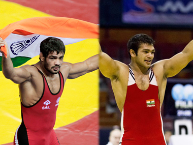Narsingh Yadav (right) will go to Rio at the expense of Sushil Kumar (left)