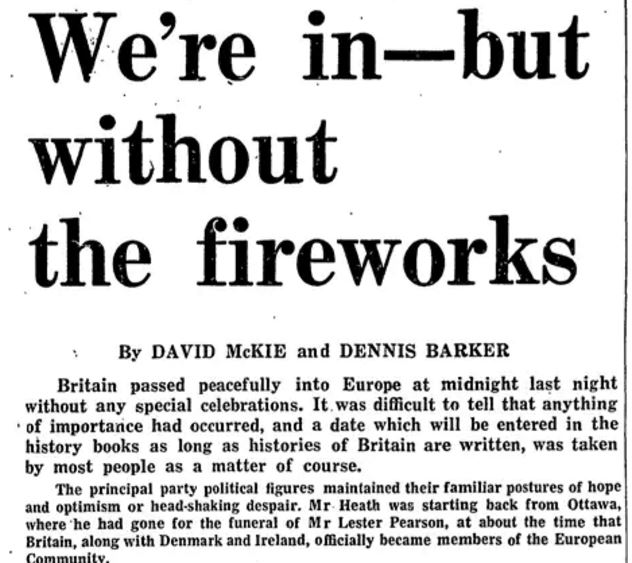 Brexit in 2016 and 1975: Two historical EU referendums speak of two different ideas of