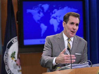 US State Department spokesman John Kirby. Getty Images