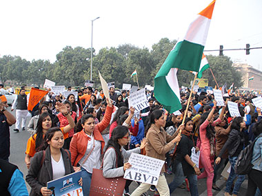 Protests at JNU. File photo. Solaris images