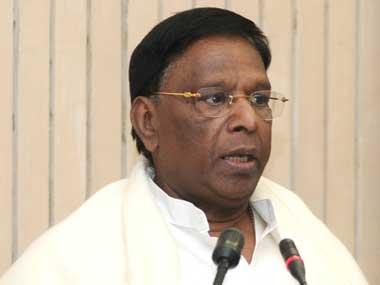 File photo of V Narayanasamy. PIB