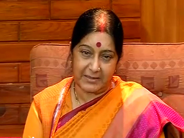 File image of External Affairs Minister Sushma Swaraj. News18