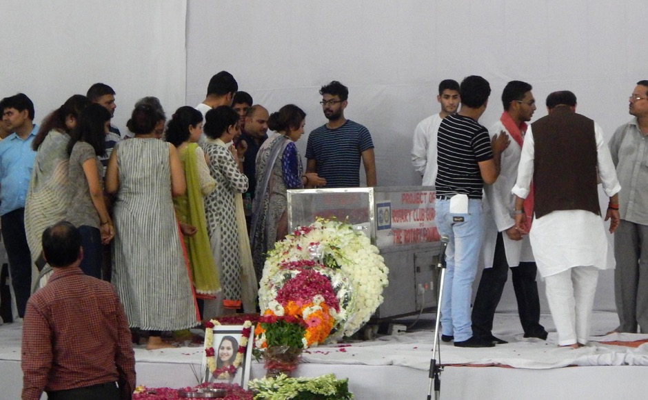 Friends and relative pay their last respect to teenager Tarushi Jain, in Gurgaon, outskirts of New Delhi, India on July 4, 2016, after she was killed by attackers at a cafe in the Bangladeshi capital Dhaka late July 1. The Indian teenager was among 20 foreigners who were killed after being taken hostage by a group of attackers at an upmarket cafe in Bangladesh capital Dhaka . (Jyoti Kapoor/ SOLARIS IMAGES)