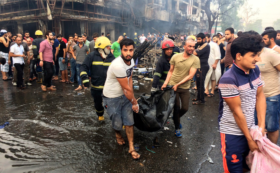 In a second attack, a roadside explosive device also blew up around midnight in a market in Al-Shaab, a Shi'ite district in the north of the capital, killing at least two people. Photo Courtesy: AP