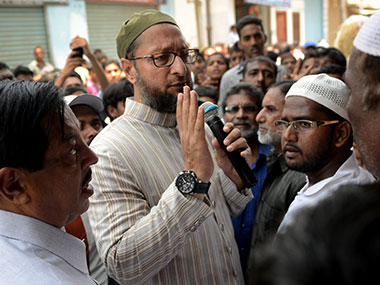 Asaduddin Owaisi in a file photo. AFP
