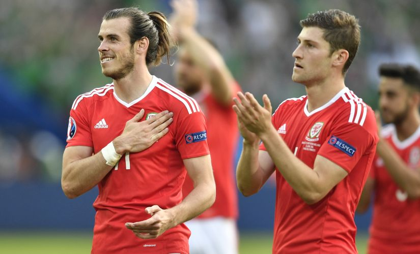 Gareth Bale (L) will be the main man for Wales against Belgium.