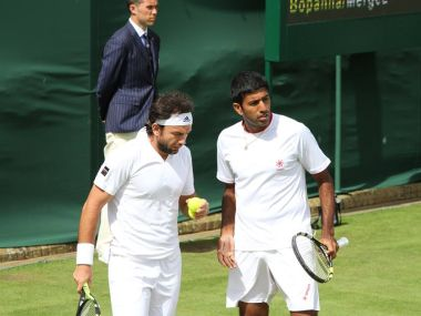 Rohan Bopanna progressed into the pre-quarterfinals of the Winbledon in the doubles category. Faceboook/ Wimbledon