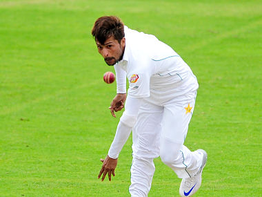 Pakistan's Mohammad Amir during a practice match against Somerset ahead of the first test against England. AP