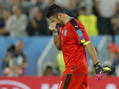 Italy goalkeeper Gianluigi Buffon after the loss to Germany. AP