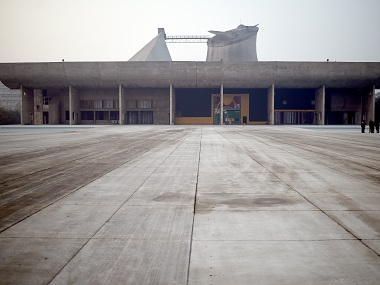 Palace of Assembly at the Capitol Complex in Chandigarh, designed by Le Corbusier. AFP