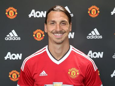 Zlatan Ibrahimovic was announced by Manchester United on Friday. Manchester United Twitter