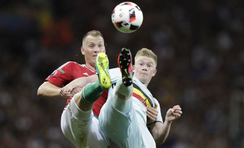 Belgium's Kevin De Bruyne is the key to unlocking Wales' defence. AP