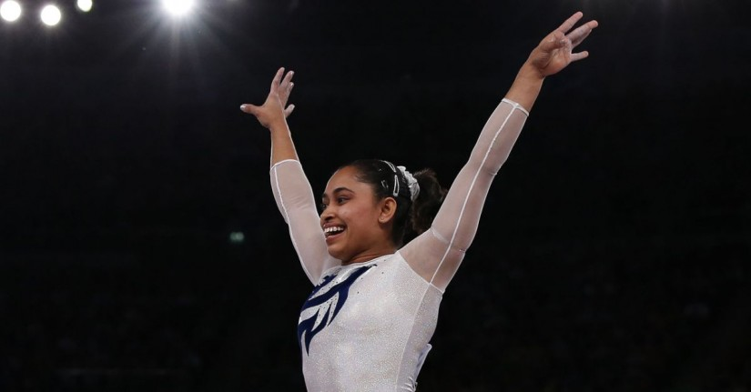 File photo of Dipa Karmakar. Image credit: Reuters