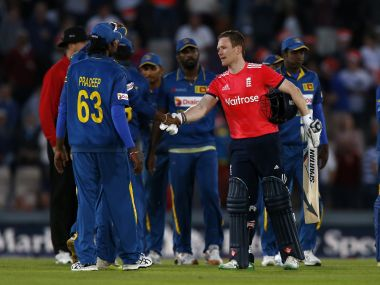 Eoin Morgan happy with England's rout of Sri Lanka. AFP