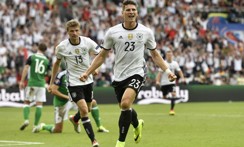 Mario Gomez has worked his way back into the German squad. AP