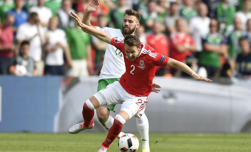 Chris Gunter will be missing his brother's wedding to compete against Belgium. AP