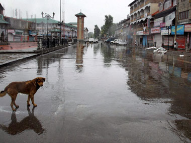 Representational image of a curfew in Jammu and Kashmir. PTI