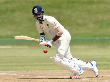 KL Rahul plays a shot on his way to a half-century on Day 2 of the second tour game. AFP