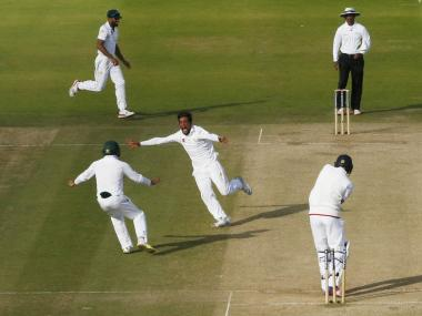 Mohammad Amir bowls out Jake Ball to hand Pakistan a historic win at Lord's. Reuters