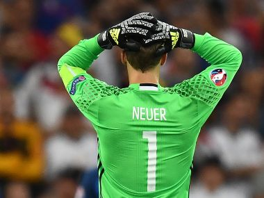 Manuel Neuer after Germany's 2-0 loss to France in the SF of Euro 2016. AFP