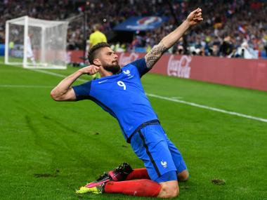 In-form Olivier Giroud will be France's trump card against Germany. Getty