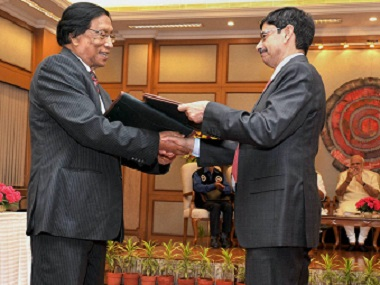 Prime Minister Narendra Modi witnessing the exchange of historic peace accord between government of India  and NSCN in New Delhi on 3 August 2015. PTI