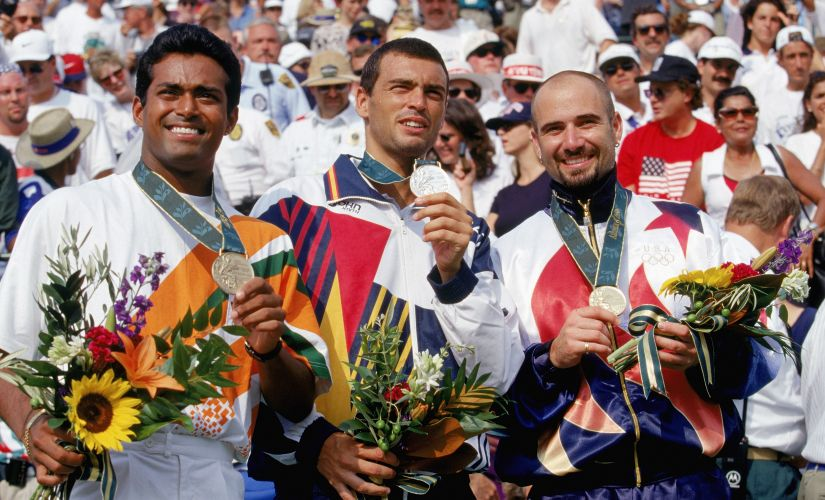 Leander Paes shocked India with his bronze medal at the Atlanta Games in 1996. Getty Images