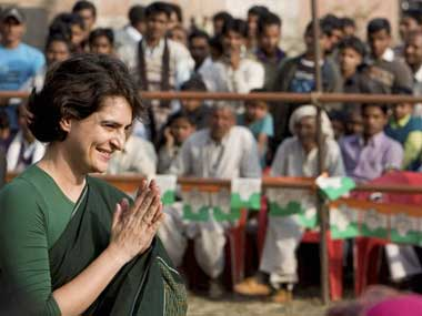 Priyanka Gandhi will be Congress' chief campaigner in UP, say reports. PTI