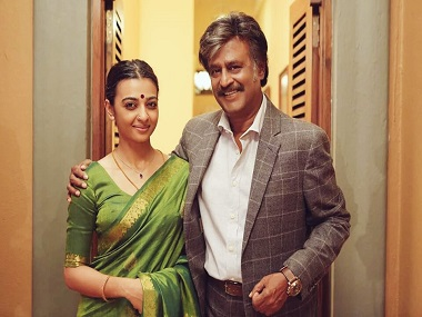 With Rajinikanth in 'Kabali'
