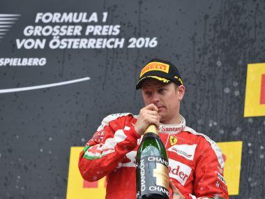 Kimi Raikkonen set to drive with Ferrari for the 2016-17 season. AFP