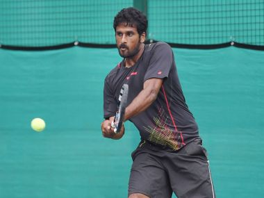 Saketh Myneni beat Yong-Kyu Lim after five sets to give India a 2-0 lead over South Korea. PTI