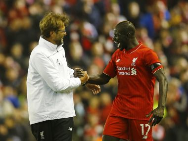 Mamadou Sakho with Jurgen Klopp. Reuters