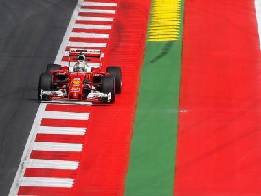 Sebastian Vettel of Germany drives during a training ahead of Austrian GP. Reuters