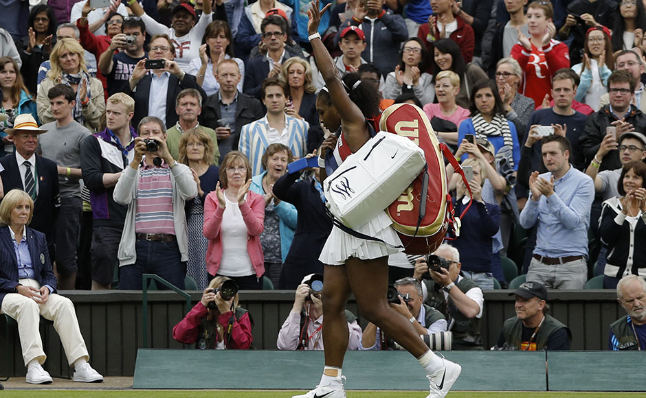 Serena will now face Germany's Annika Beck for a place in the last 16. AFP