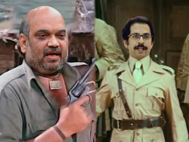 The BJP and the Shiv Sena have termed each other's leaders as Gabbar Singh and the jailor from Sholay respectively.