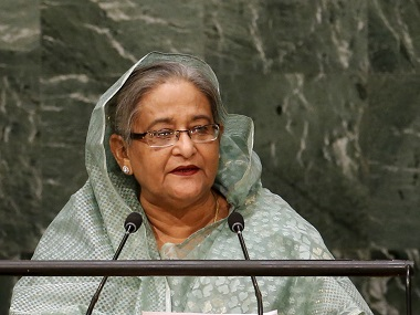 File image of Bangladesh's Prime Minister Sheikh Hasina. Reuters