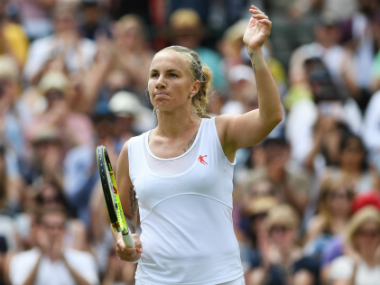 Svetlana Kuznetsova reacts after winning the third round Ladies singles clash against Sloan Stephens in the ongoing Wimbledon. Getty Images