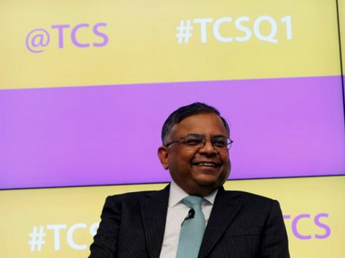 N. Chandrasekaran, CEO, Tata Consultancy Services (TCS). Reuters