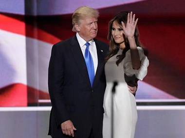 Donald Trump with his wife Melania at the Republican national convention. Photo: AP.