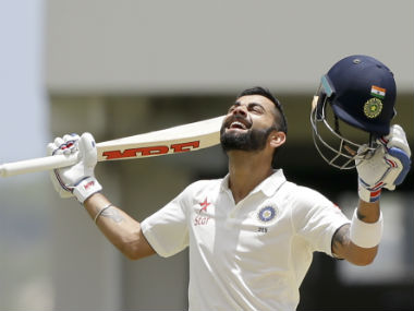 Virat Kohli is ecstatic after getting to his maiden double-century in international cricket. AP