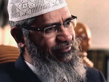 File image of Zakir Naik. YouTube screengrab