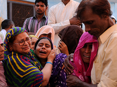 Members of Mohammad Akhlaq's family. Getty images