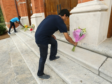 Faraaz's friends pay tribute to him in the US. AP