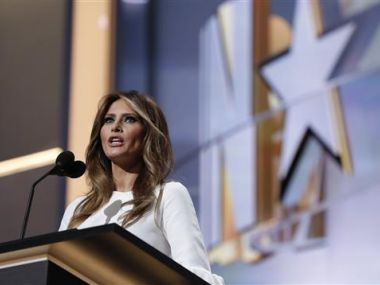 A file image of Melania Trump, wife of Republican Presidential Candidate Donald Trump. AP