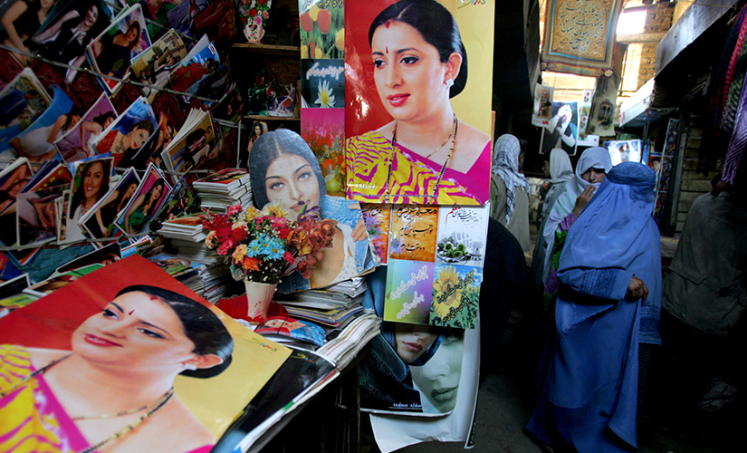Posters of actress Smriti Irani as 'Tulsi' in the 'Kyunki Saas Bhi Kabhi Bahu Thi'. Reuters
