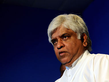File photo of Arjuna Ranatunga. AFP