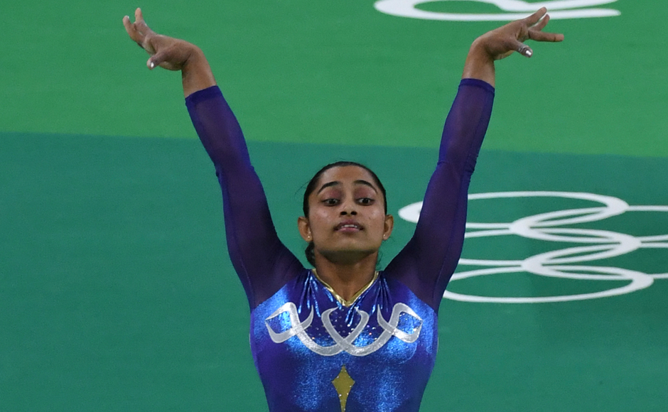India's Dipa Karmakar competes in the women's vault event final of the Artistic Gymnastics at the Olympic Arena during the Rio 2016 Olympic Games in Rio de Janeiro on August 14, 2016. Toshifumi KITAMURA / AFP